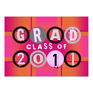 Graduation Class Of 2011 Circle Orange Invitation