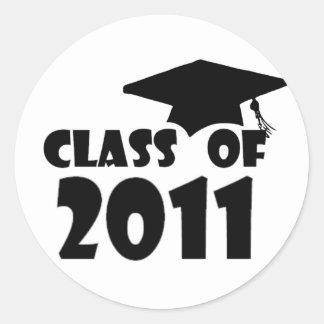 Graduation Class of 2011 Classic Round Sticker