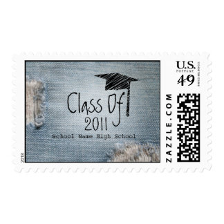 Graduation Class Of 2011 - Faded Blue Jeans Postage