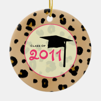 Graduation Class of 2011 Leopard Print & Pink Ceramic Ornament