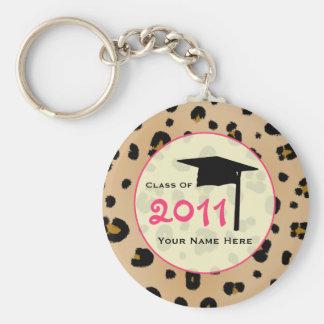 Graduation Class Of 2011 - Leopard Print & Pink Keychain