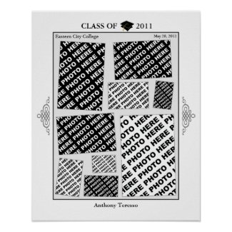 Graduation Class of 2011 Photo Collage 2 Poster print