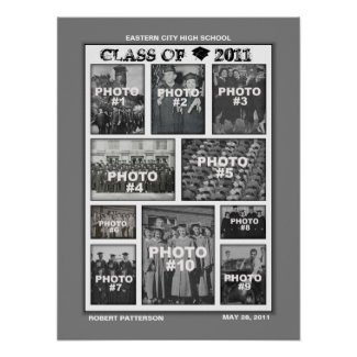 Graduation Class of 2011 Photo Collage 3 Poster print