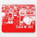 Graduation Class of 2011 School Bus 2 Mousepad