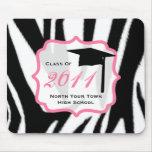 Graduation Class Of 2011 Zebra Print Mousepad