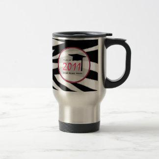 Graduation Class Of 2011 Zebra Print Travel Mug