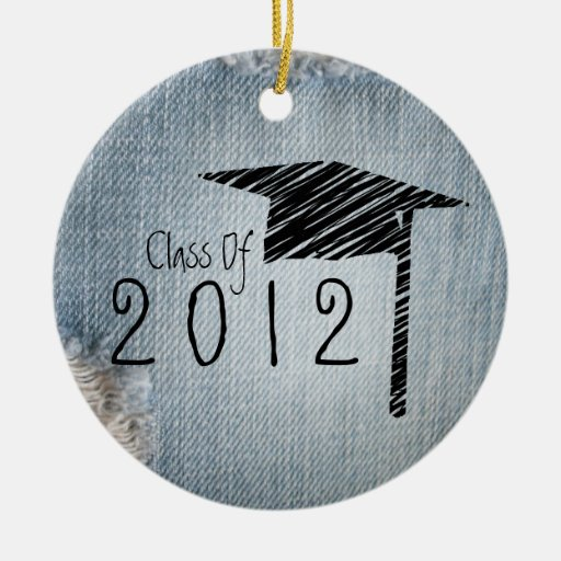 Graduation Class Of 2012 Blue Jean Ornaments