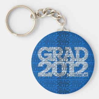 Graduation Class Of 2012 Keychain Blue