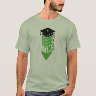 Graduation Class Of 2012 Pencil Cap Green T-Shirt