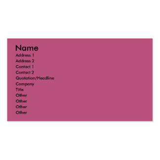 Graduation - Class of 2012 - Pink and Black Business Card