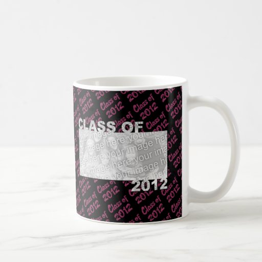 Graduation - Class of 2012 - Pink and Black Classic White Coffee Mug