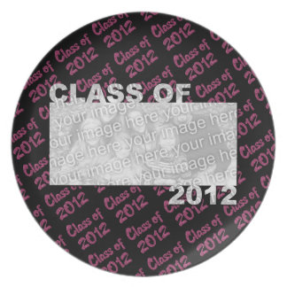 Graduation - Class of 2012 - Pink and Black Dinner Plate