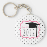 Graduation Class Of 2012 - Polka Dot & Pink Keychains