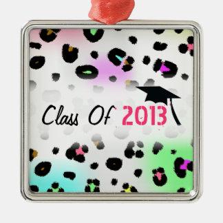 Graduation Class Of 2013 Airbrush Neon Leopard Metal Ornament