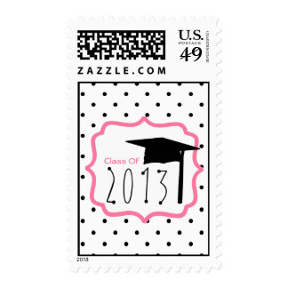 Graduation Class Of 2013 Polka Dot Postage
