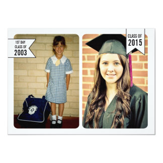 Graduation Class of 2015 Young & Old Photo Card