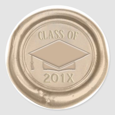 Lawyer Themed Graduation Class of 2018 Classic Gold Wax Seal
