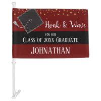 Graduation Class of 2020 Car Party Wine Car Flag