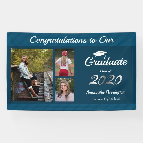 Graduation Class of 2020 Photo Collage Banner