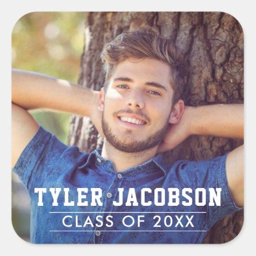 Graduation Class of 2020  Senior Photo Square Sticker