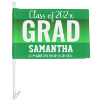 Graduation Class of 2020 Simple Large Type Car Flag