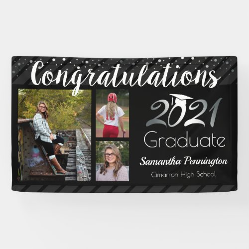 Graduation Class of 2021 Photo Collage Banner