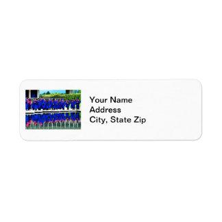 Graduation Class of 20XX by Water Return Address Label