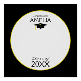 Graduation Class Of 20XX Custom Autograph Poster