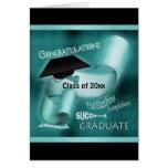 Graduation class of 20xx elegant teal card