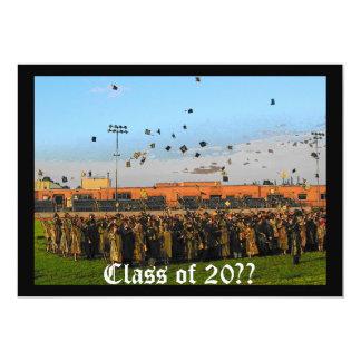 Graduation Class of 20XX on Field 5x7 Paper Invitation Card