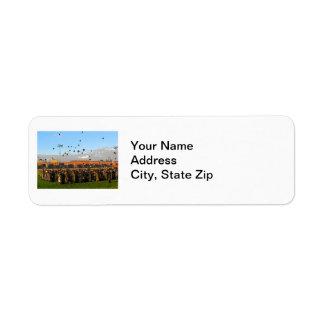Graduation Class of 20XX on Field Return Address Label