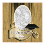 Graduation class of 20xx photo elegant wood personalized announcements