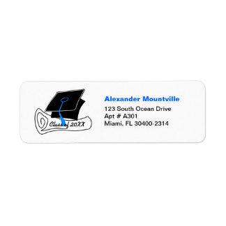 Graduation Class of Address Label Diploma 3