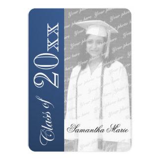 Graduation Class of Blue Graduation Photo Personalized Announcement