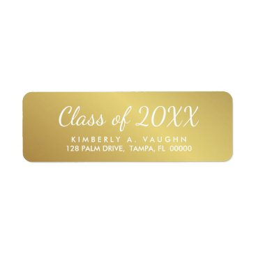 HolidayInk Graduation Class of Gold Foil Look Return Address Label