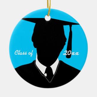Graduation Class Of Insert Photo Ornament Red Blue