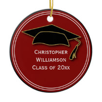 Graduation Class of Keepsake School Memento Ceramic Ornament