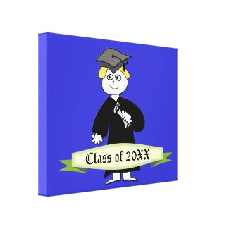 Graduation Class of Personalized Stretched Canvas Print