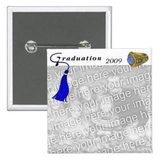 Graduation Class Ring BLUE Button