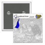 Graduation Class Ring BLUE Pinback Buttons