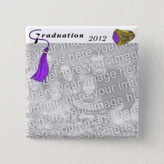 Graduation Class Ring PURPLE Pinback Button