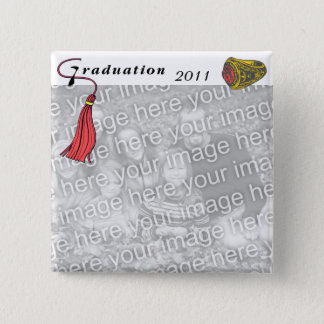 Graduation Class Ring RED Button