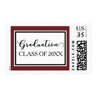 Graduation Class with Accent of School Colors Postage