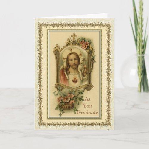Graduation Commencement Sacred Heart Congratulate Card