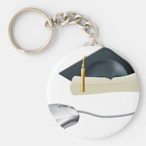Graduation computer mouse concept key chains