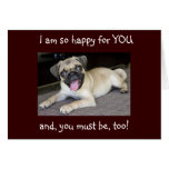 GRADUATION-CONGRATS HAPPY FOR YOU! GREETING CARD