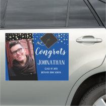 Graduation Congrats One Photo Large Car Magnet