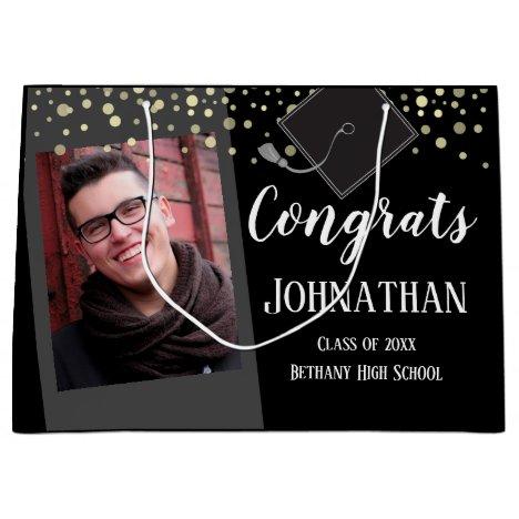 Graduation Congrats One Photo Large Gift Bag