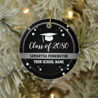 Graduation Congratulations Confetti Keepsake Ceramic Ornament