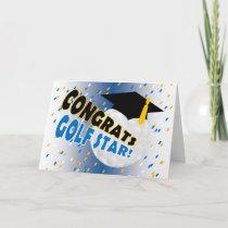Graduation Congratulations for a Golf Star Card